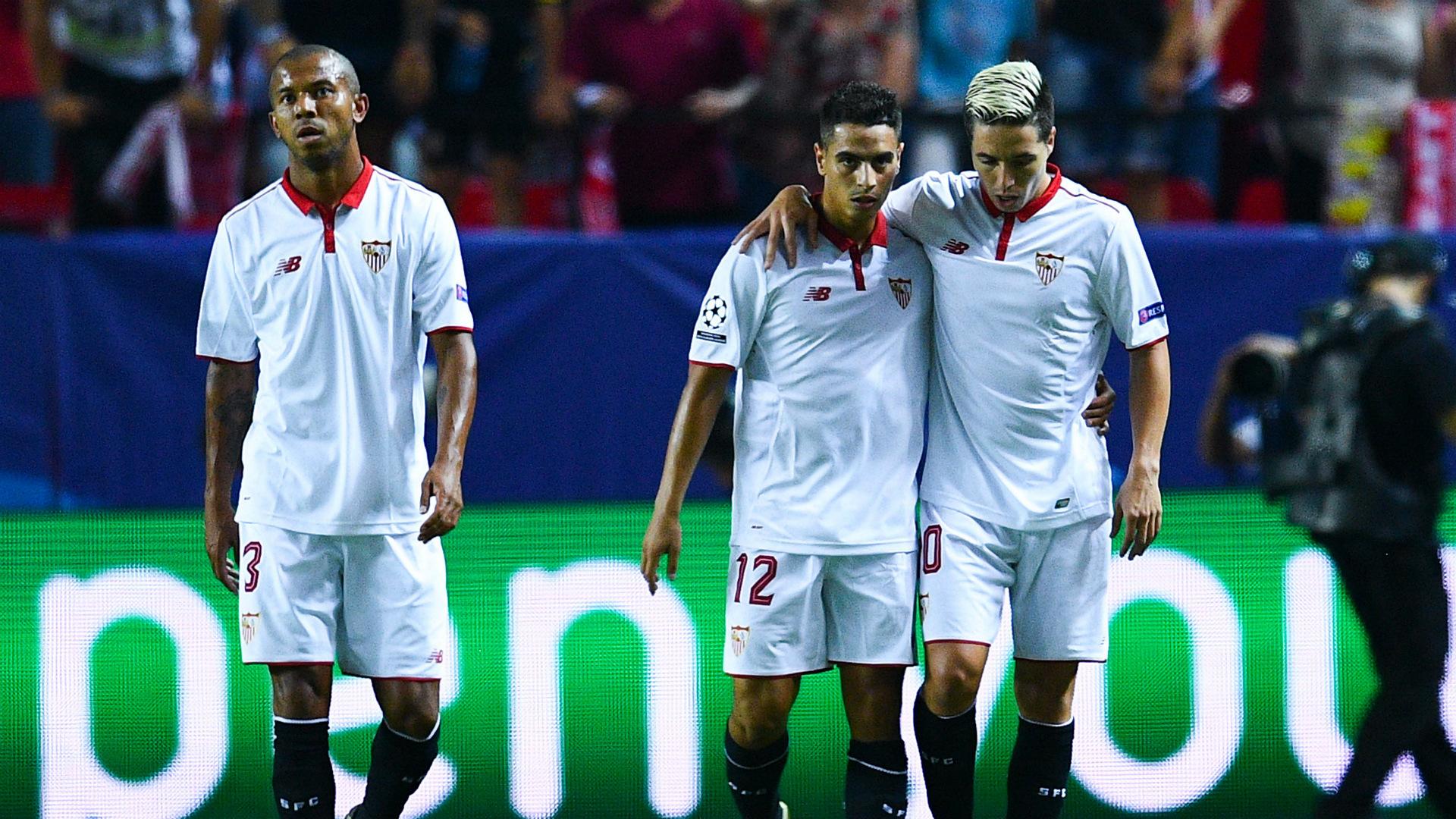 Wissam Ben Yedder Samir Nasri Sevilla Olympique Lyonnais UEFA Champions League