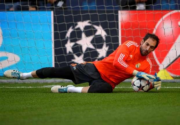 Diego López se entrena en solitario con el Real Madrid