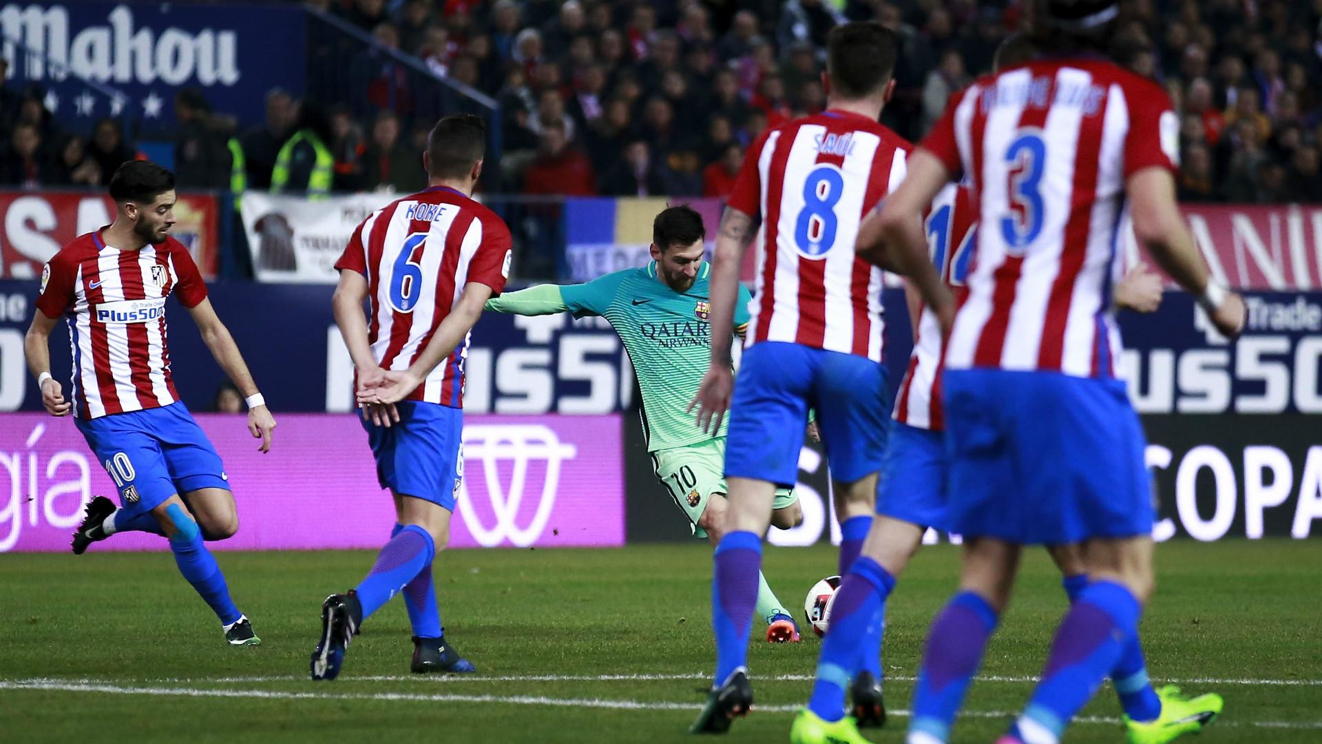 Lionel Messi Atletico Madrid Barcelona Copa del Rey