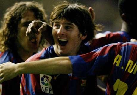 A 10 años del primer gol de Messi