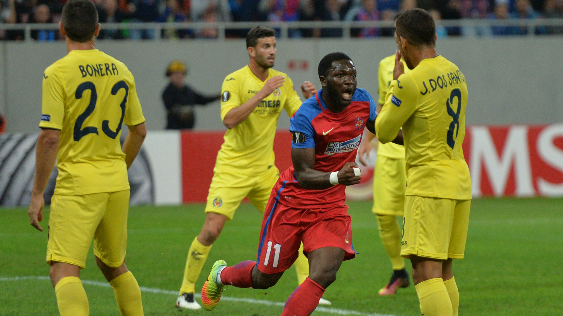 Muniru Sulley Jona Dos Santos Steaua Bucharest Villarreal UEFA Europa League