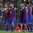 I calciatori del Barça esultano dopo un goal
