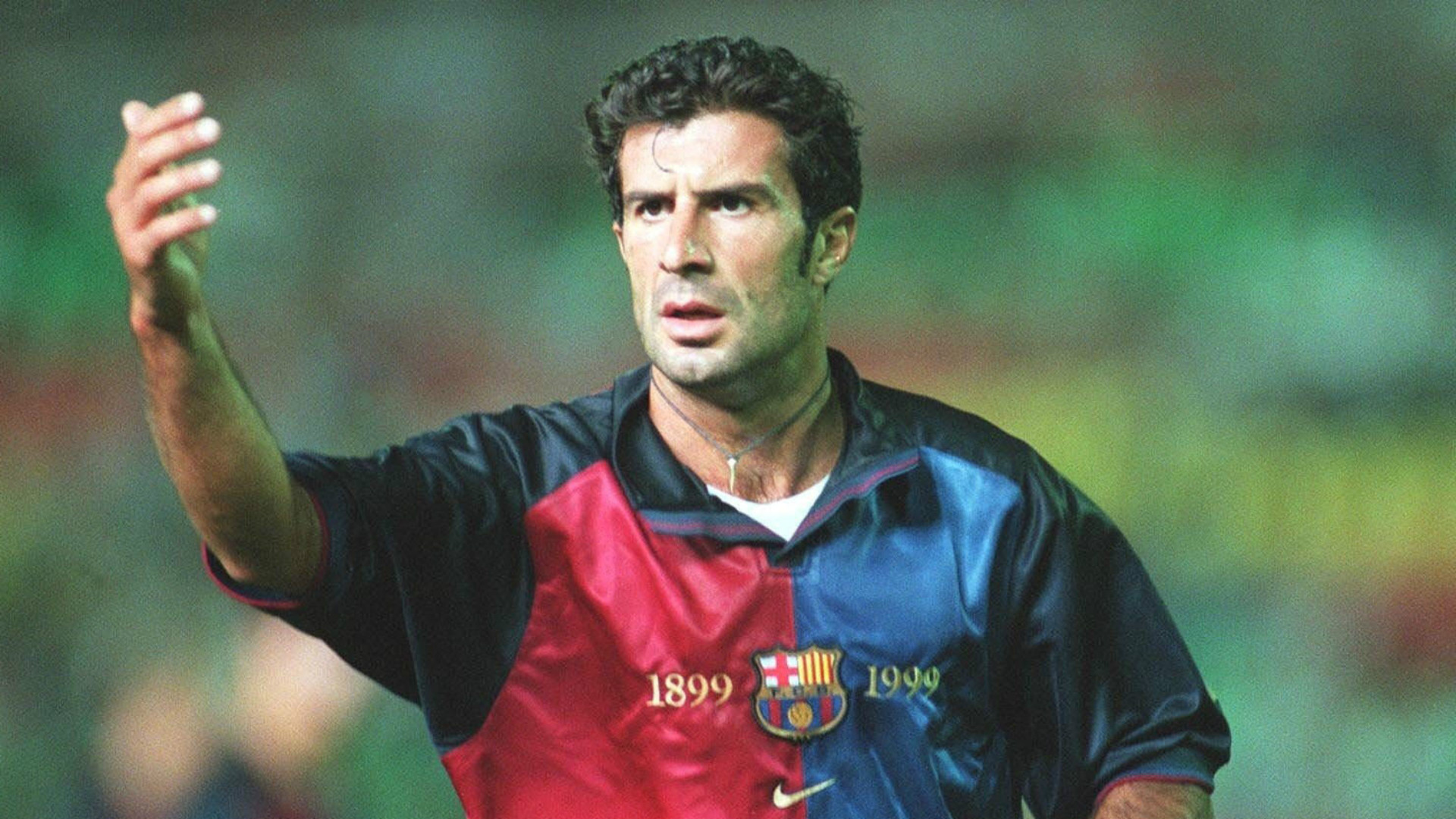 Luis Figo Barcelona Goal