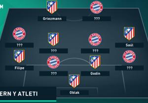 En vista al apasionante e igualado partido de vuelta de semifinales de la Liga de Campeones, elaboramos el mejor XI conjunto entre jugadores de Bayern de Múnich y Atlético de Madrid