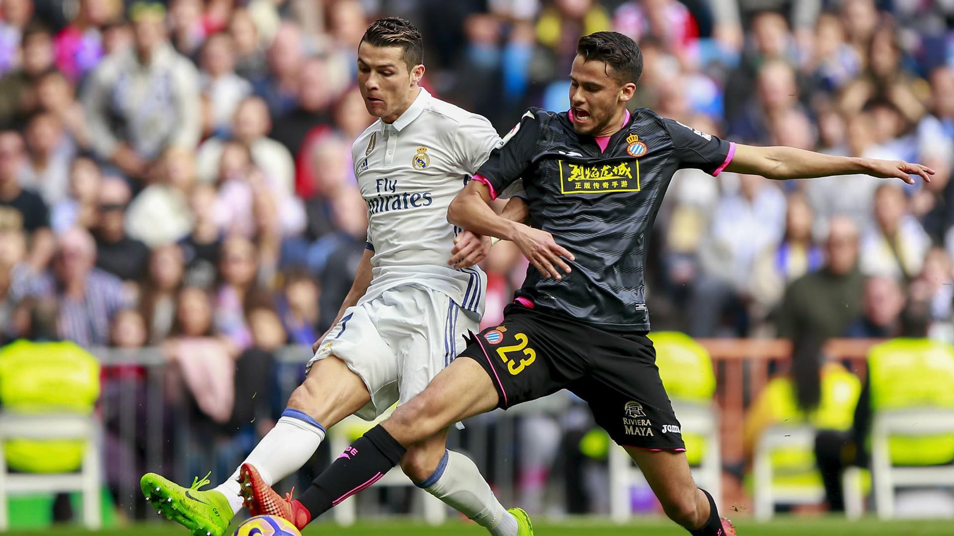 Diego Reyes Cristiano Ronaldo Real Madrid Espanyol Laliga Vs
