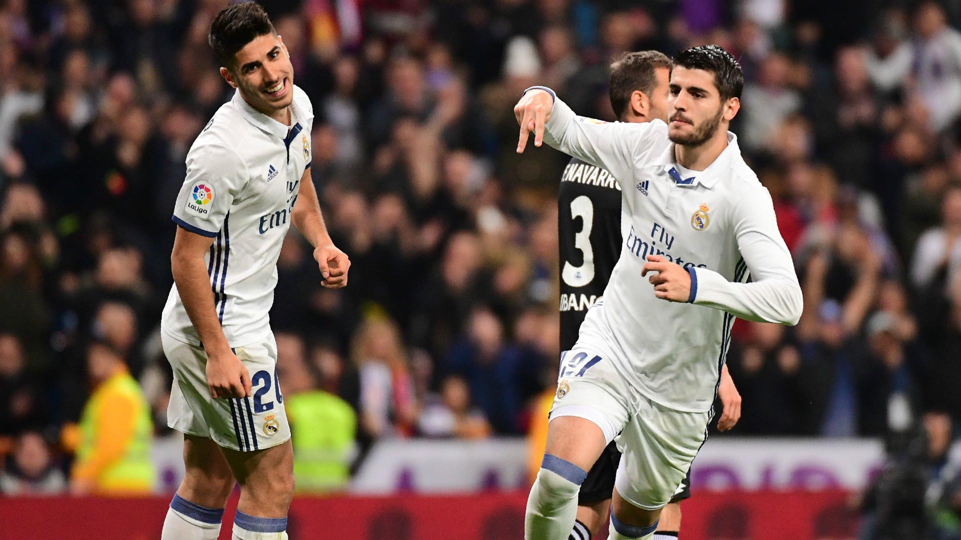 Marco Asensio Alvaro Morata Real Madrid Deportivo LaLiga Santander