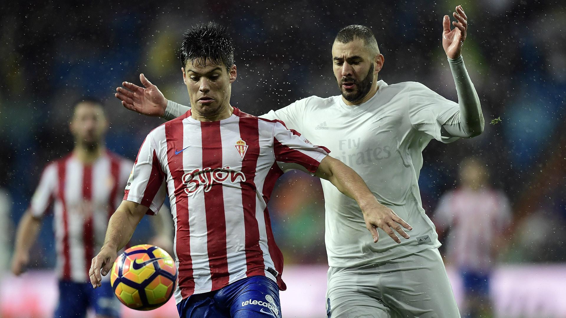 Jorge Mere Karim Benzema Real Madrid Sporting Gijon La Liga 26112016