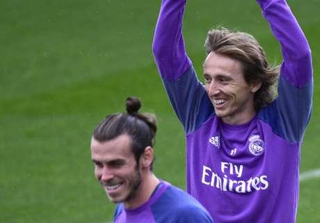 Modric y Bale ya se entrenan con el Madrid