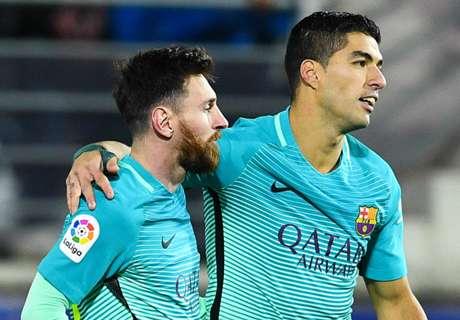 Messi y Suárez, en lo más alto