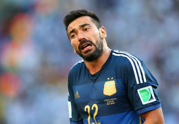Lavezzi, subcampeón del mundo con la Selección argentina.