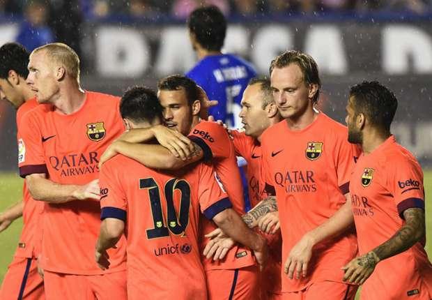 Levante 0-5 Barcelona: Brilliant Blaugrana maintain perfect record