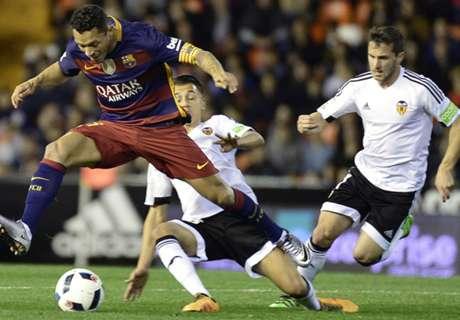 Valencia-Barcellona 1-1: Finale blaugrana