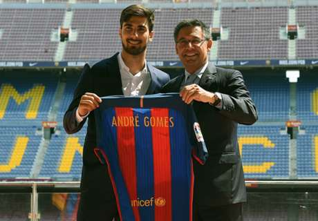 Andre Gomes unveiled by Barca