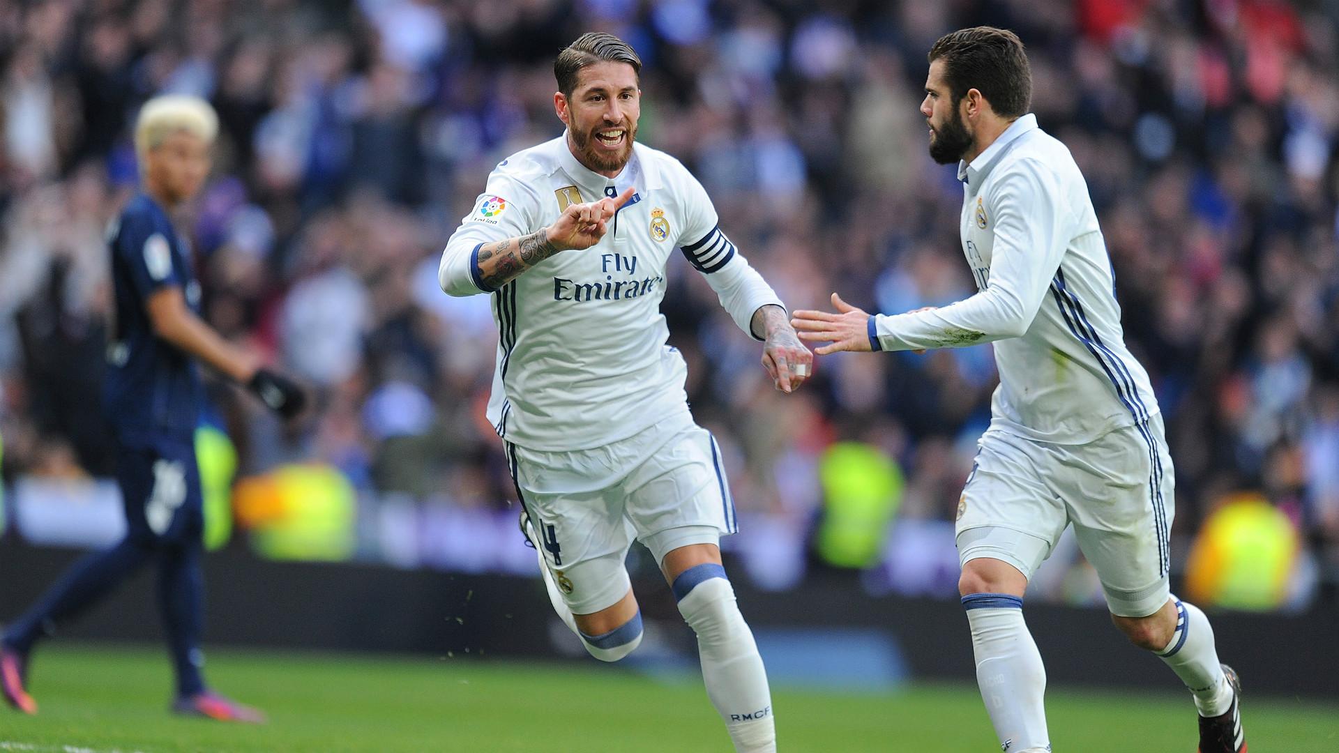 Sergio Ramos Nacho Sergio Ramos Real Madrid Malaga Laliga