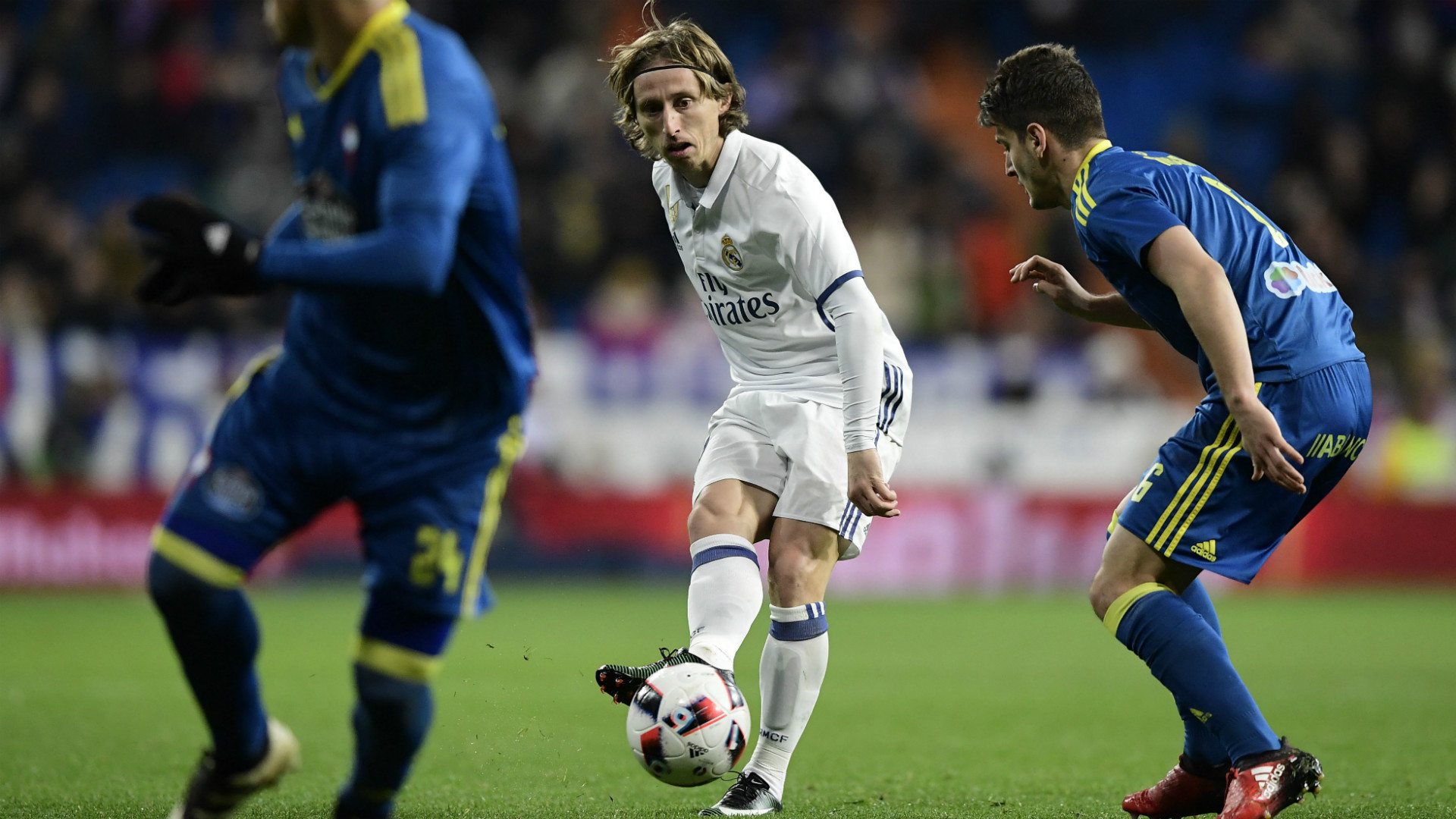 Luka Modric Jonny Castro Real Madrid Celta Copa del Rey
