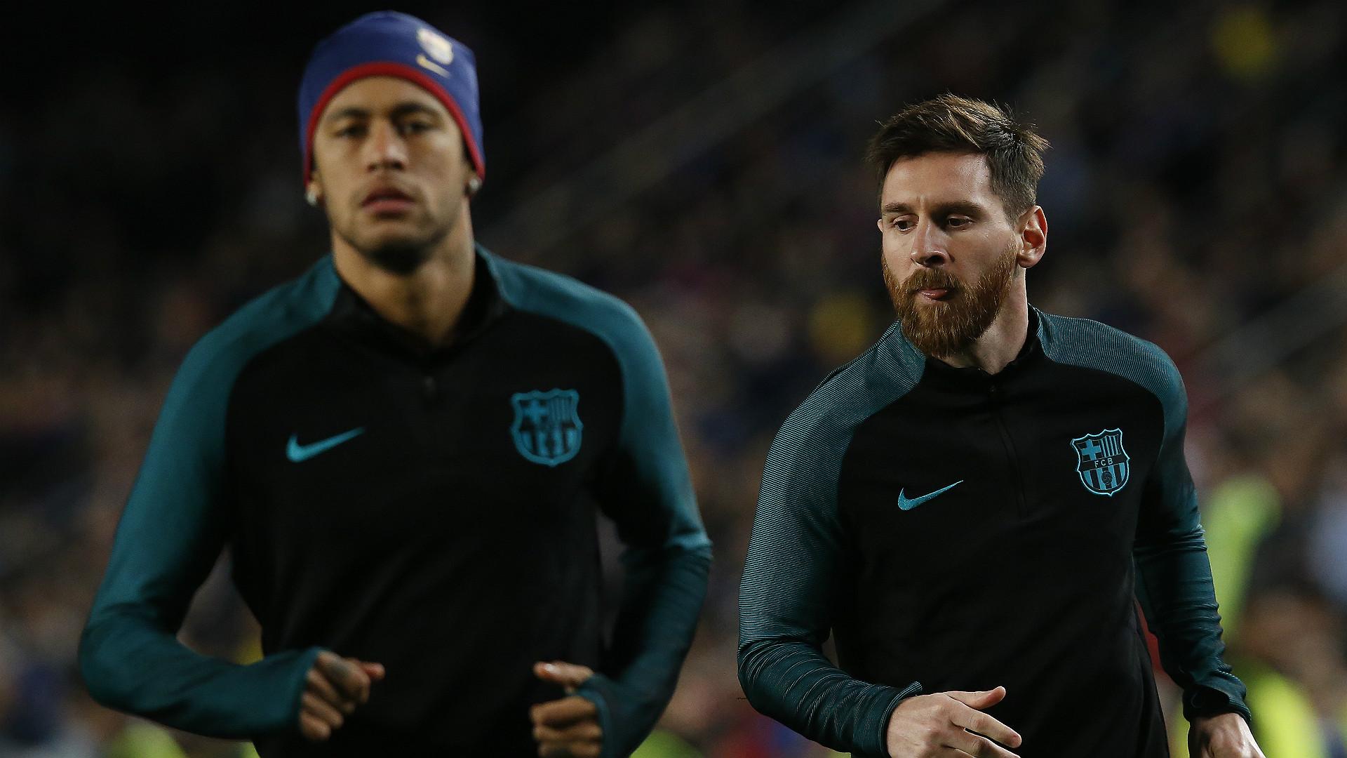 Neymar Lionel Messi Barcelona PSG UEFA Champions League 08032016