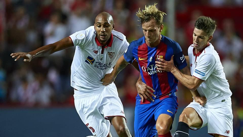 Steve Nzonzi Luciano Vietto Ivan Rakitic Sevilla Barcelona Spanish Supercup