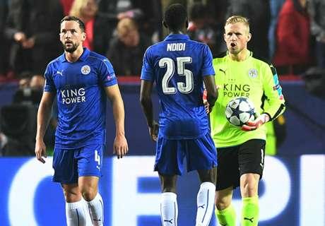 El Leicester, en puestos de descenso