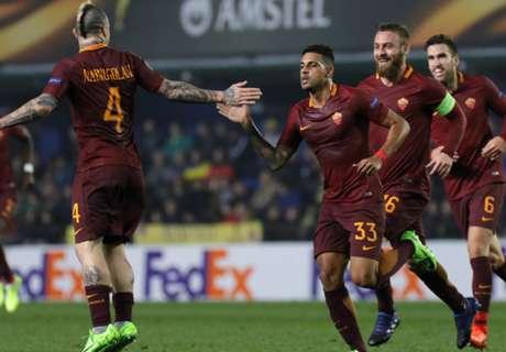 Hattrick Dzeko brengt Roma in zetel