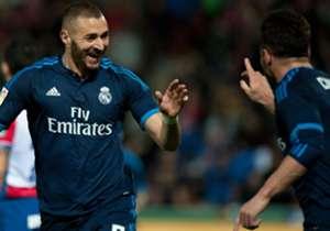 Benzema festeggia dopo il goal
