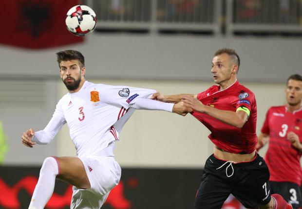 Albania 0-2 Spain: Diego Costa and Nolito strike for visitors in easy win