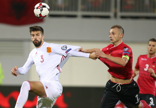Albania 0-2 Spain: Diego Costa and Nolito strike for visitors in easy win