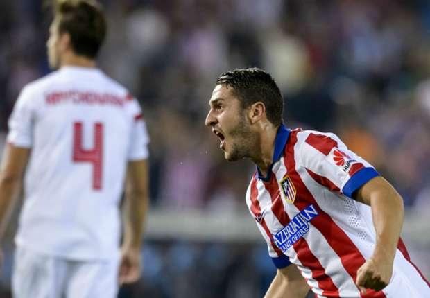 Koke bejubelt seinen Treffer zum 1:0 für Atletico Madrid