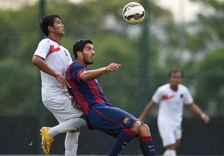 Regardez la vidéo des buts de Luis Suarez avec le Barça B contre l'Indonésie U19