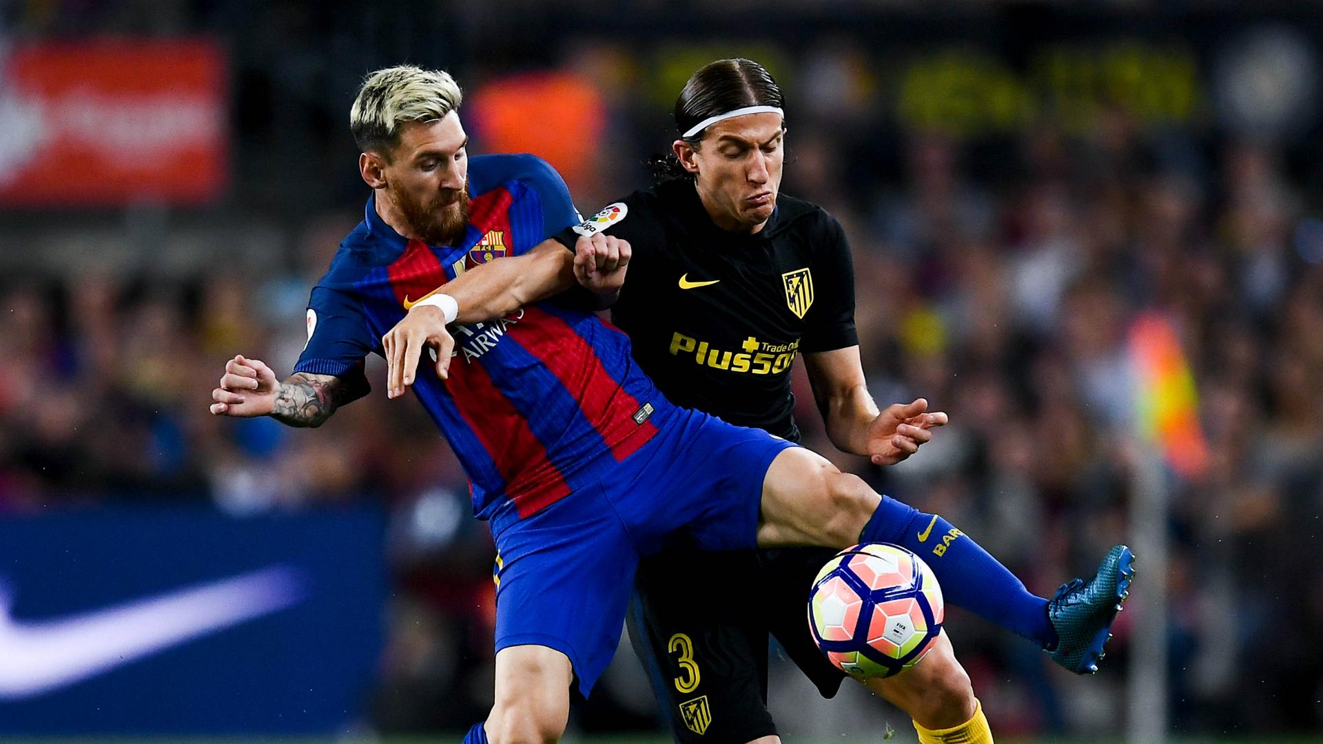 Lionel Messi Filipe Luis Barcelona Atletico Madrid La Liga
