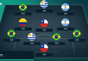 Se si giocasse un'ipotetica sfida tra Europa e Sud America, chi scenderebbe in campo? Iniziamo dal Sudamerica...