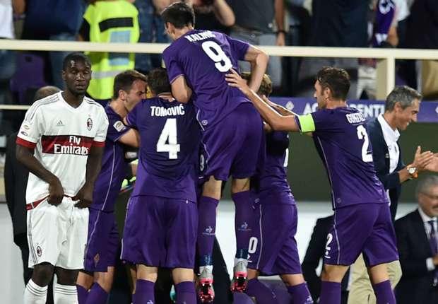 Fiorentina celebrating Milan
