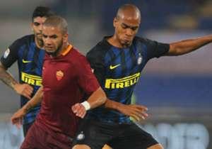 Bruno Peres Joao Mario Roma Inter Serie A 02102016