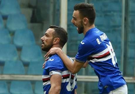 Isla-Quagliarella, tra Samp e Cagliari è 1-1