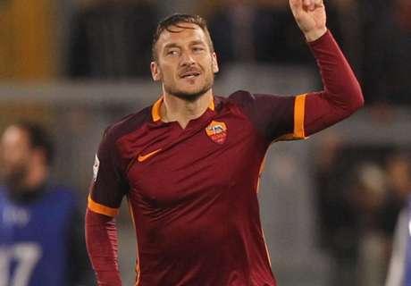 Totti lo ganó en cuatro minutos
