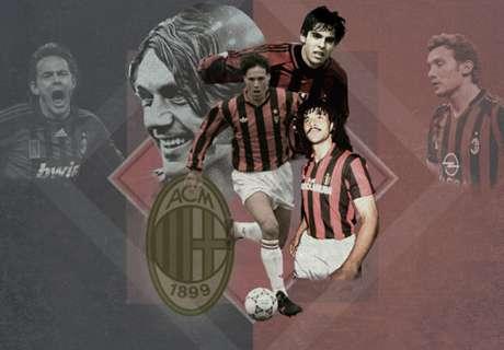 Les 20 meilleurs joueurs de l'histoire de l'AC Milan