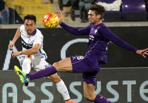 Nagatomo Marcos Alonso Fiorentina Inter Serie A