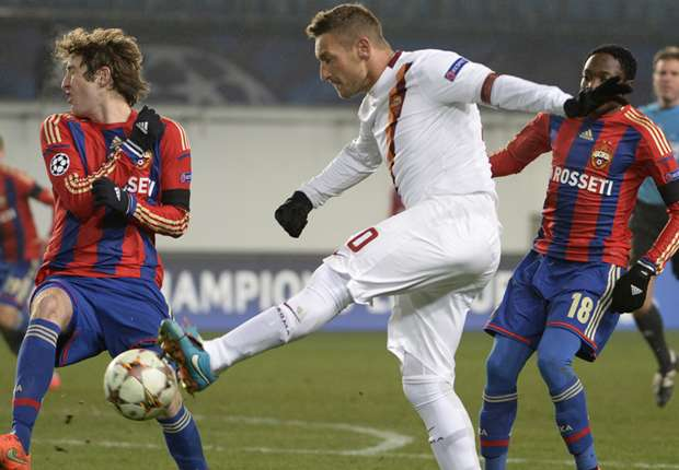 CSKA Moscow 1-1 Roma: Berezutskiy snatches a point at the death after Totti thunderbolt