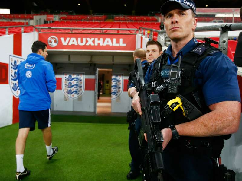 Armed police to watch over England's friendly with France