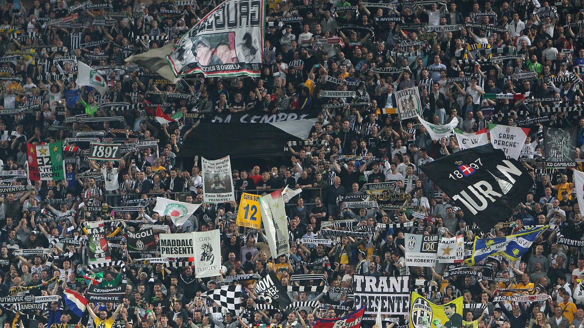 Juventus fans during Monaco clash 14042015