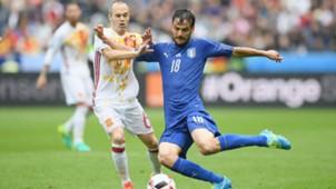 Iniesta Parolo Italy Spain Euro 2016