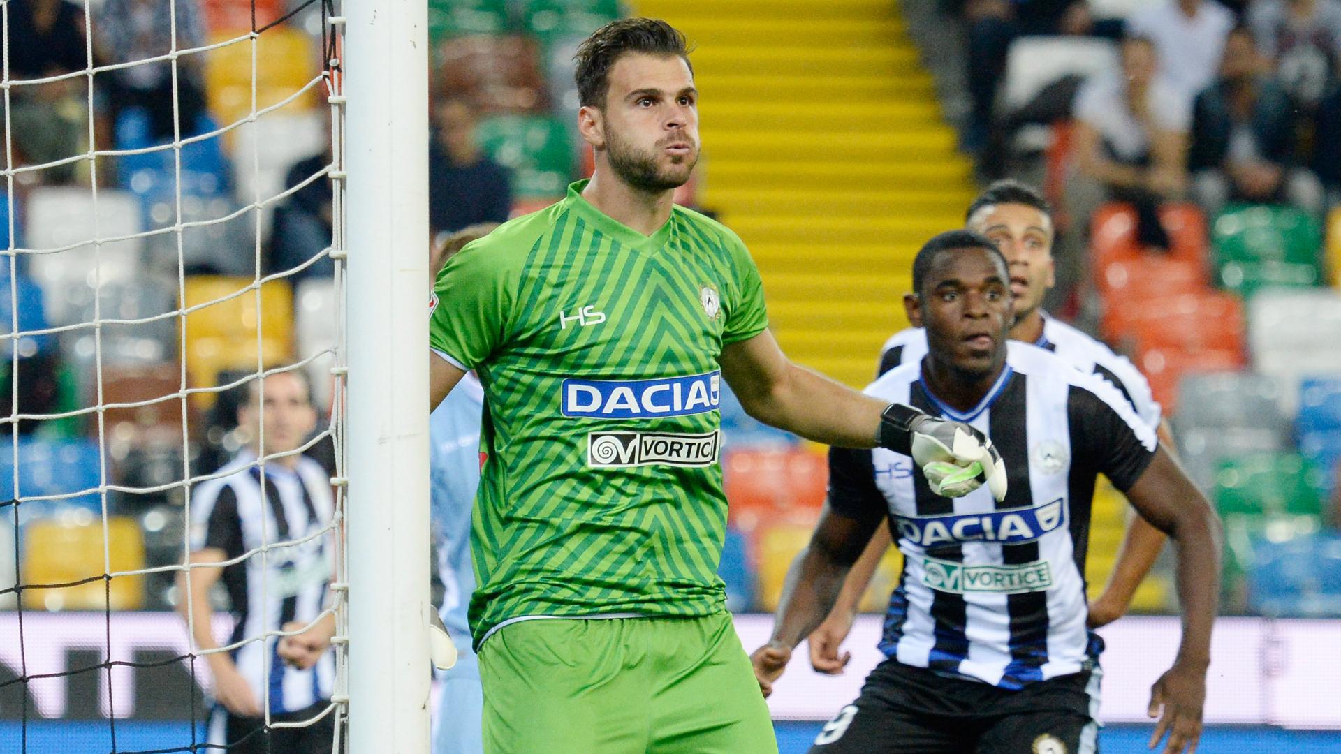 Udinese: si ferma Karnezis, salterà il match contro il Palermo. Il report