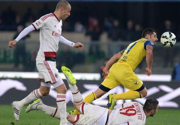 Chievo 0-0 AC Milan: Rossoneri held to bore draw