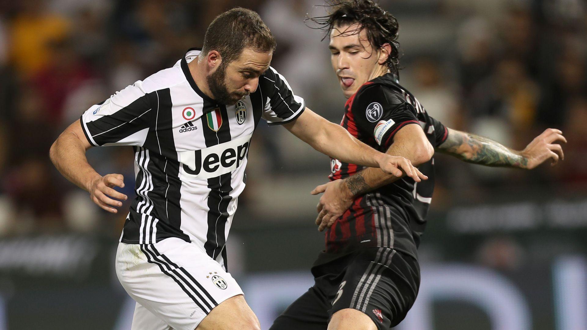 Higuain Romagnoli Juventus Milan
