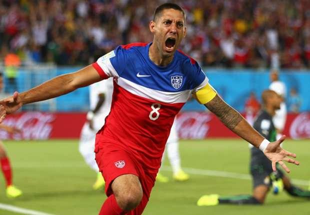 Clint Dempsey membuka keunggulan Amerika Serikat hanya dalam 29 detik pertandingan.