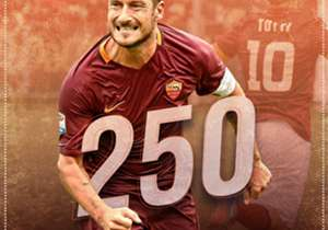 Francesco Totti knackte in der Serie A die 250-Tore-Marke