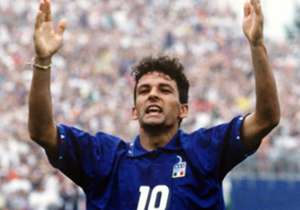 Roberto Baggio celebrates his 50th birthday on Saturday and we've put together a gallery of our favourite images from his legendary playing career...