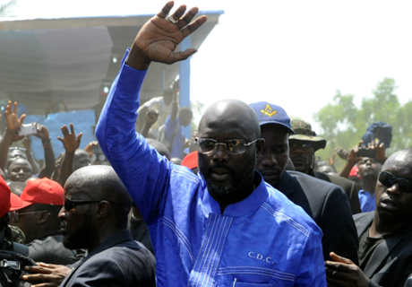 George Weah, candidato a presidente