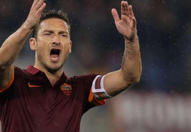 Francesco Totti konnte Roms Niederlage nicht verhindern