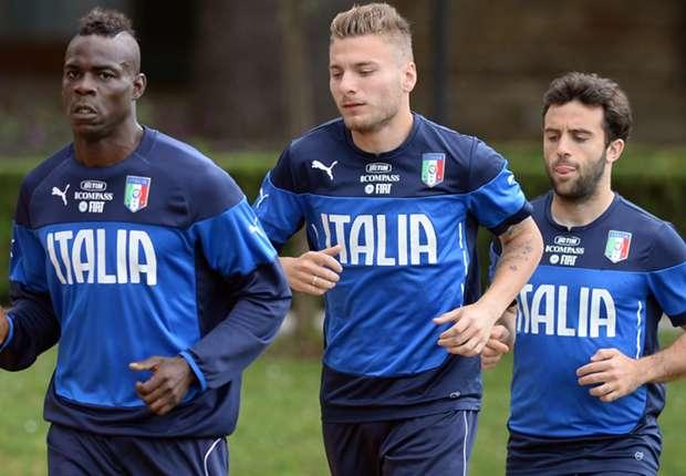 Vorne Glänzend aufgestellt: Italien mit Mario Balotelli, Ciro Immobile und Giuseppe Rossi