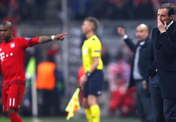 Allegri durante Bayern-Juventus